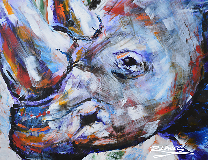 Abstract Rhino Painting
