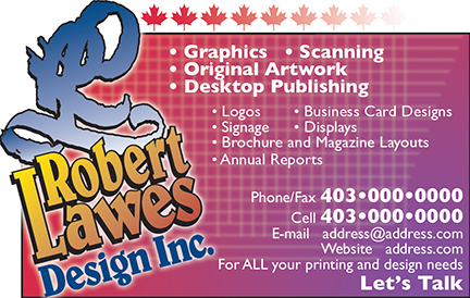 Robert Lawes Design Canpages Ad